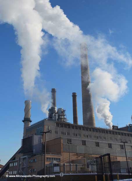 black dog power plant steaming minneapolis